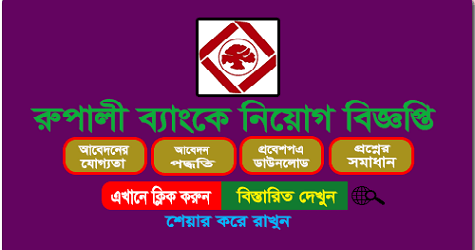 Rupali Bank ltd Job Circular